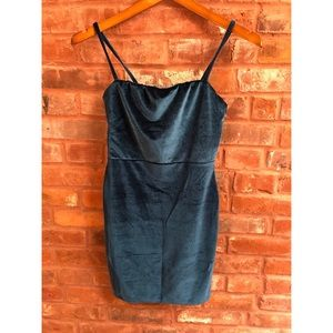 NWT NASTY GAL Blue Velvet Mini Dress
